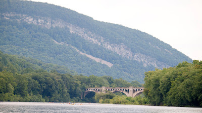 Lackawanna Cut-Off bridge and west side of thegap looking north.