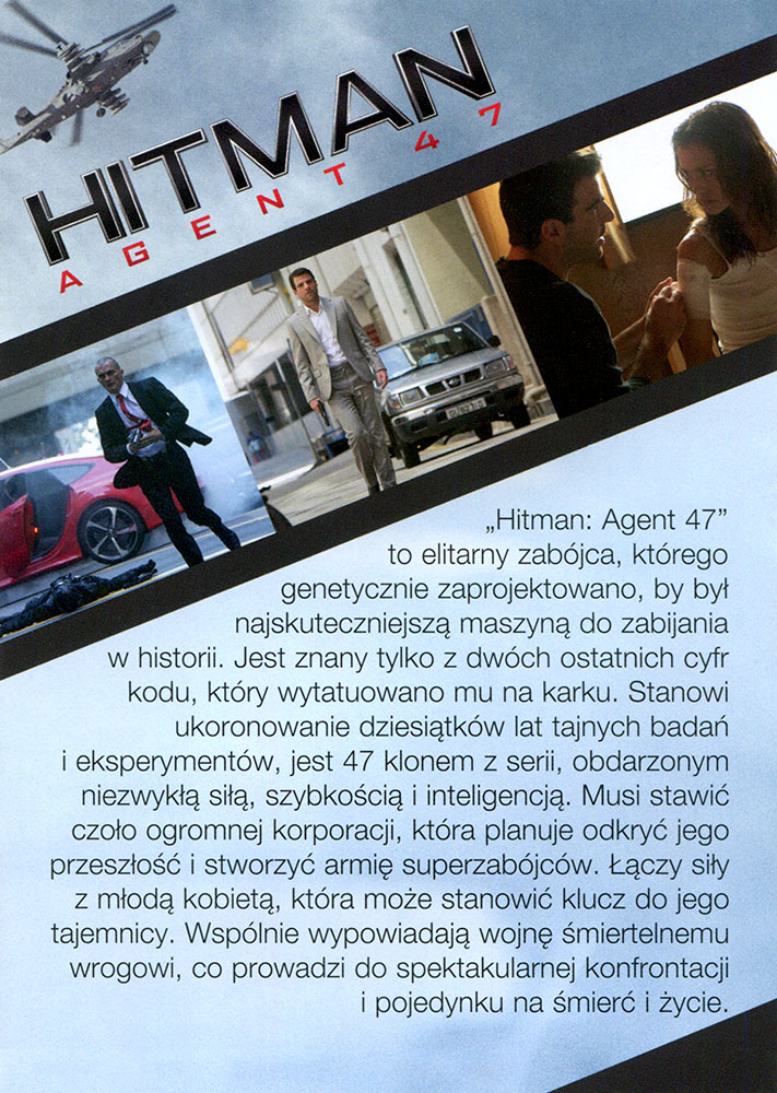 Ulotka filmu 'Hitman: Agent 47 (tył)'