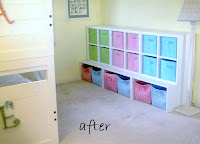 storage cubbies fill wall space
