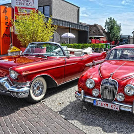 two beautyful red cars by Paul Wante - Transportation Automobiles ( red, cars, automobiles, two, transportation )