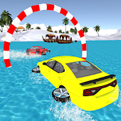 Water Car Surfer: The Beach Car Drifting Stunt
