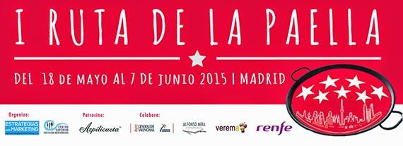 Ruta de la Paella en Madrid, del 18 de mayo al 7 de junio 2015
