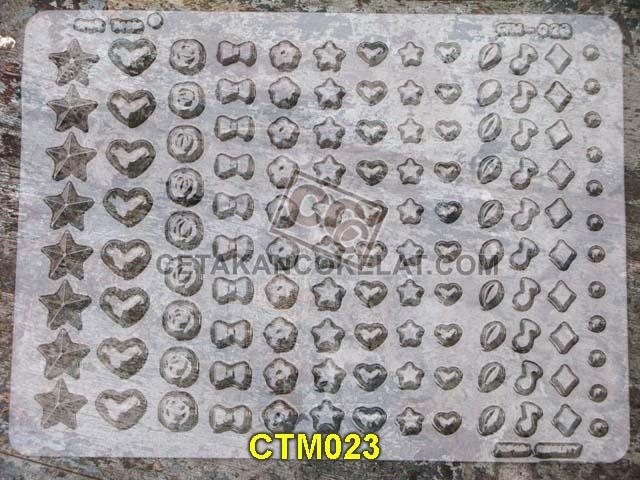 cetakan coklat cokelat bintang love pita not lagu kecil CTM23 CTM023