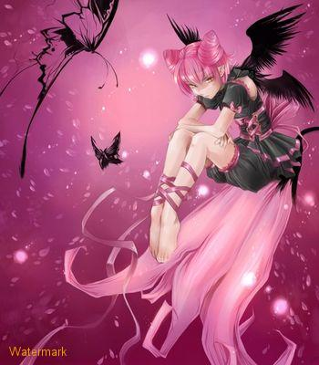 Pink Goth Fairy Anime, Fairies Girls
