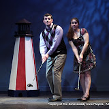 "Paul Dederick and Jennifer Van Iderstyne in ""Foreplay: Or the Art of the Fugue"" as part of THE IVES HAVE IT - January/February 2012.  Property of The Schenectady Civic Players Theater Archive."