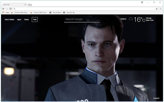 Detroit Become Human HD Wallpaper New Tab