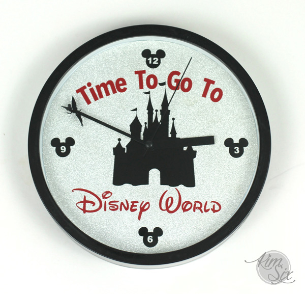 Time to go to disney world clock