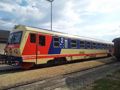 Erlebniszug im Bahnhof Ernstbrunn