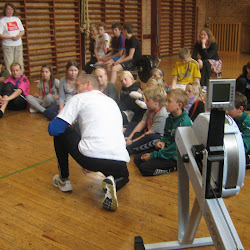 Ro- og kajakkaravanen på Vetterslev-Høm skole og i Ringsted Hallerne til Leg & Bevægelse
