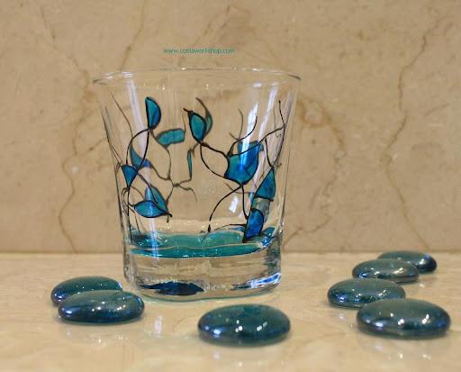 Waxinelichtje turquois glasschilderen.w.JPG