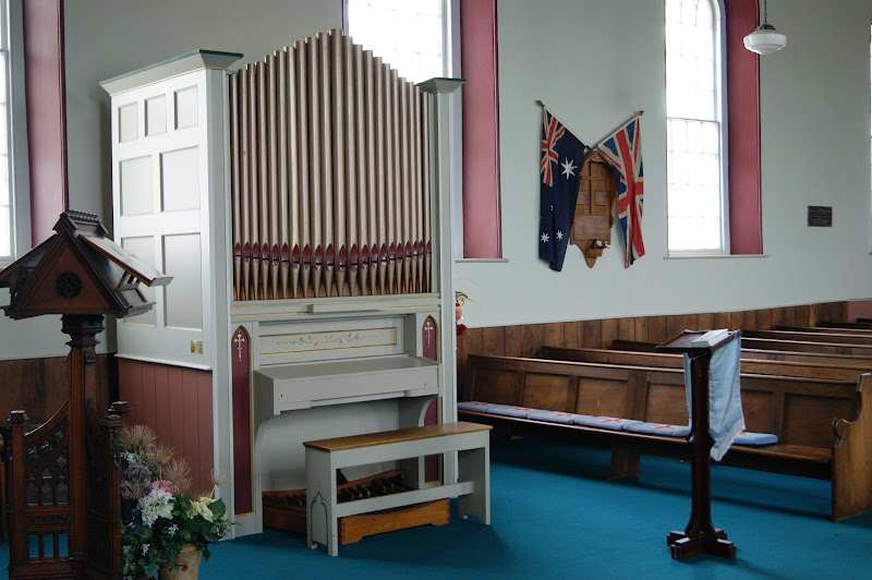 The organ was installed in 1984 by Australian Pipe Organs Pty Ltd