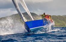 J/30 rising from the Antigua sea