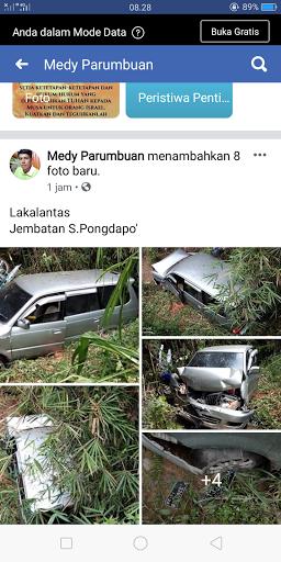 FOTO: Laka di Buntu Limbong, Mobil dan Motor Terjun dari Jembatan Pongdapo'