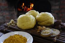 柴燒薑黃梅菓米饅頭