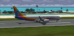 Rolling out after landing at Montego Bay Jamaica