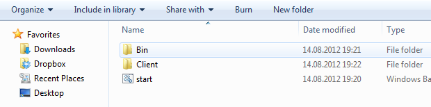 folder layout