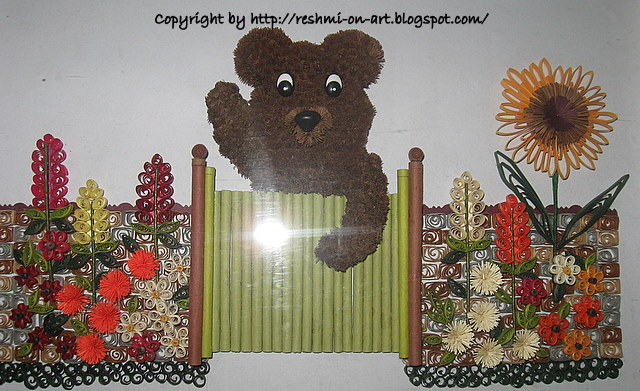 Quilled-Teddy-Bear-Frame