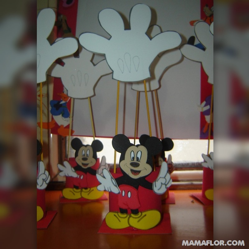 centro de mesa mickey y minnie mouse --- (35)