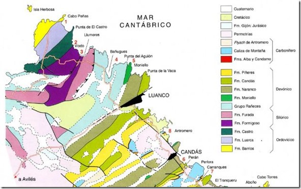 Formaciones costa asturiana