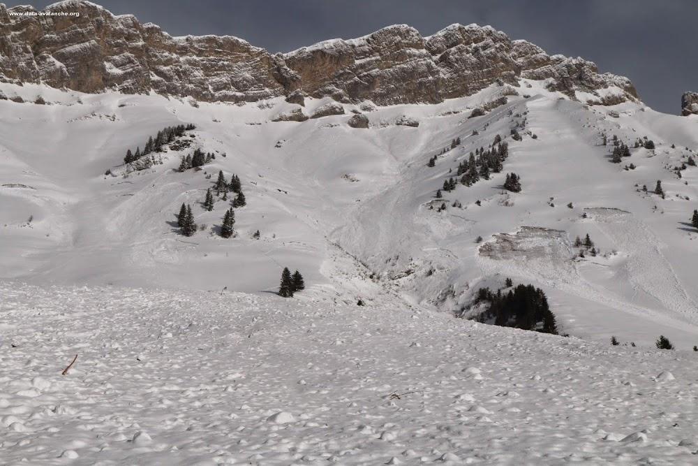 Avalanche Aravis, secteur Col des Aravis, RD 909 - Aiguille de Borderan - Photo 1