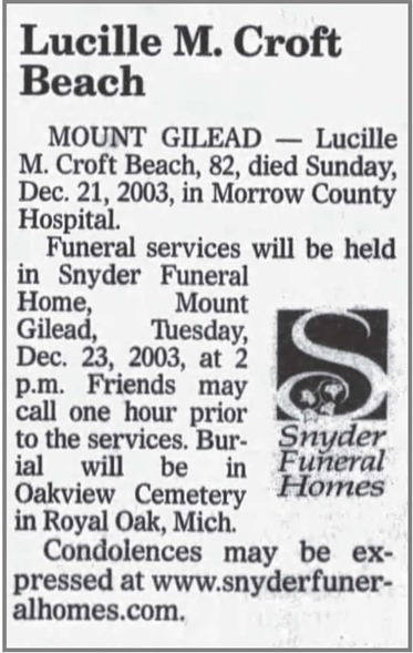 BEACH_Lucille_obit_News-Journal_23 Dec 2003_pg 6