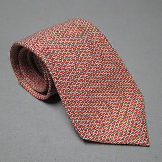 Hermès Red Cinephile Tie