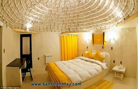 Nội thất gỗ : Khách sạn được xây dựng hoàn toàn từ muối-5