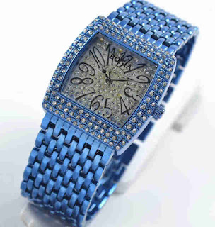 jam tangan  Bonia full diamond blue