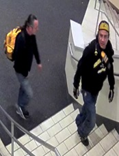 SUSPECTS WALKING UP STAIRS