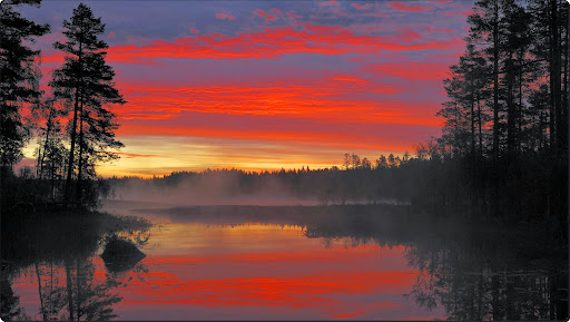 Spectacular Sunrise, Moss Lake, Dalarna, Sweden.jpg