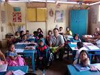 Joshua with 1st Graders at USDA School (Alta Trujillo, Peru)