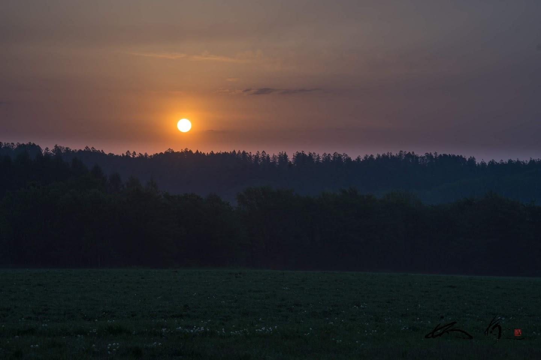 更別村の朝陽