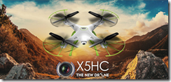 Syma X5HC With 2MP HD Camera 2.4G 4CH 6Axis