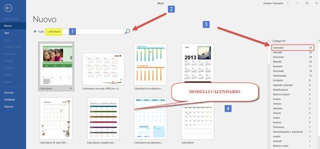 Modello Calendario Word.Creare Calendari Di Nostre Foto Con Word Ipcei