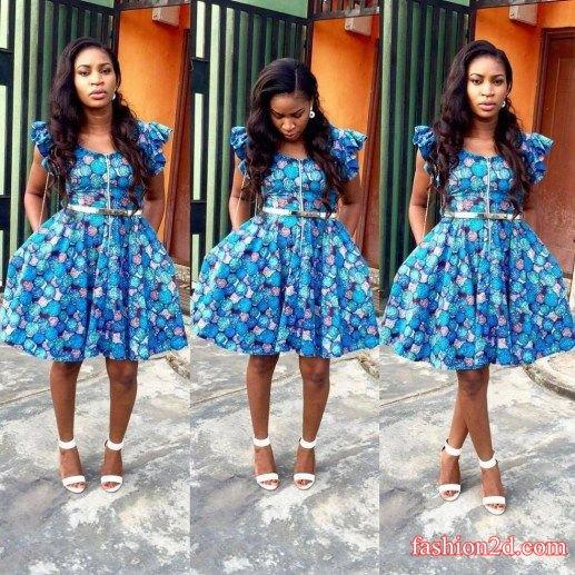 Ankara Style Short Gown