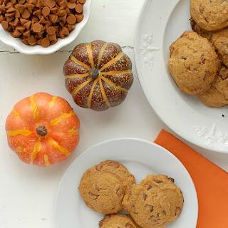 Pumpkin Spice Cinnamon Chip cookies {gluten-free}.