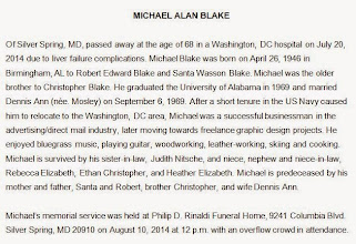 Photo: MCW is deeply saddened by the passing of our friend, Michael Blake. We hope you will enjoy these images, which are presented chronologically, as a remembrance. They are drawn from our Photo Gallery library, with original captions followed by their date [yy,mm].