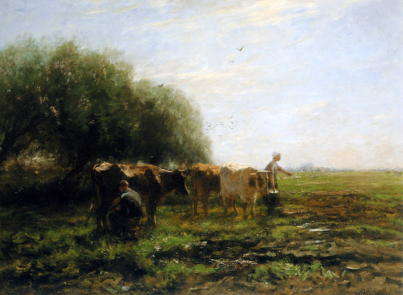 Willem Maris - Milking