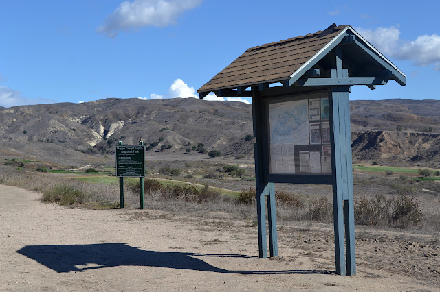 kiosk at trail start