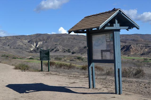 kiosk at trail start