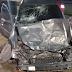Carro fica destruído em acidente com caminhão de lixo em Manaus