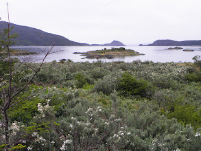 Photo: La Pataia Bay with the entrance to the Beagle Channel