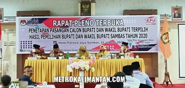 KPU Tetapkan Satono - Fahrur Rofi sebagai Bupati - Wakil Bupati Sambas