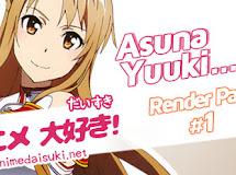 Anime Render Pack 1: Asuna Yuuki