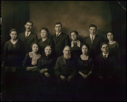 Frank & Caroline Risch Busald family, Dearborn County, Indiana and Indianapolis, Indiana, about 1914