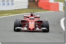 Il problema alla gomma sulla vettura di Raikkonen
