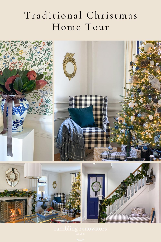 traditional christmas decor, traditional christmas home, classic christmas decor