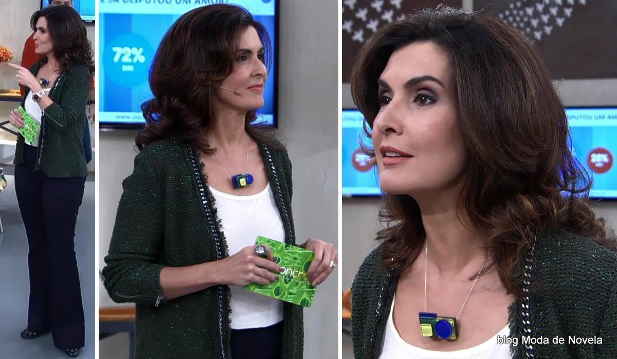moda do programa Encontro - look da Fátima Bernardes no dia 1º de julho