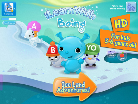i Learn With Boing Ice Land Adventures Main Page