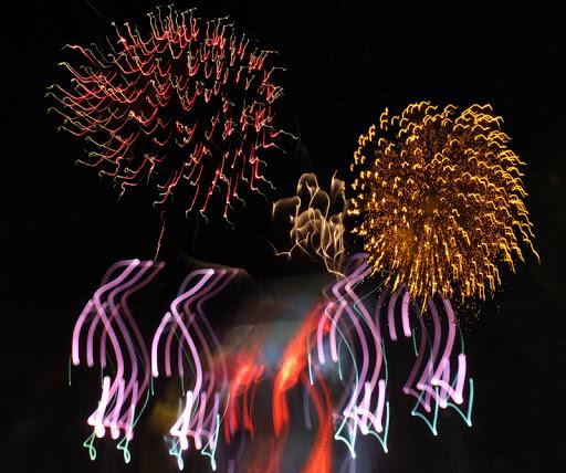 Guayabitos plaza fireworks